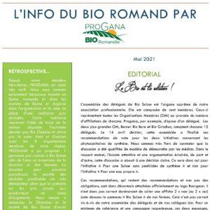 PROGANA présente: L'info du bio romand!